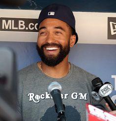 Luv That Beautiful Smile. Mlb Players, Baseball Players, Matt Kemp, Beard Gang, Fox Sports, Celebs, Celebrities, Beautiful Smile, All About Time