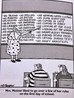 A Teacher's Notebook: Rules.