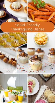 Delicious kid-friendly Thanksgiving dishes.
