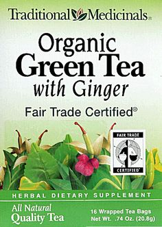 #Vitacost  Traditional Medicinals Organic Green Tea With Ginger
