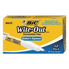 Wite-Out Shake 'n Squeeze Correction Pen by BIC® BICWOSQP11