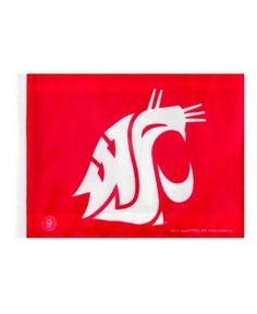 Rico Industries Washington State Cougars Car Flag - Team Color