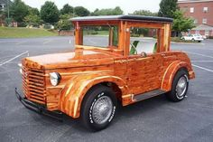 Located in Hickory, North Carolina, this custom wooden car rides on a 1986 Toyota truck frame and gets power from a Chrysler 318 engine. It is driven by an automatic transmission and has merely 1,800 miles on its speedometer. The whole body is made of cedar and its interior is just as over-the-top as the exterior.