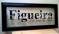Custom Family Name Frame  Perfect Wedding by MajopageCreative