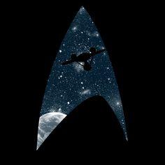Star Trek inspired t-shirt The Final Frontier by Li.Ro.Vi