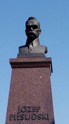 Statue of Józef Piłsudski in Krosno, Poland