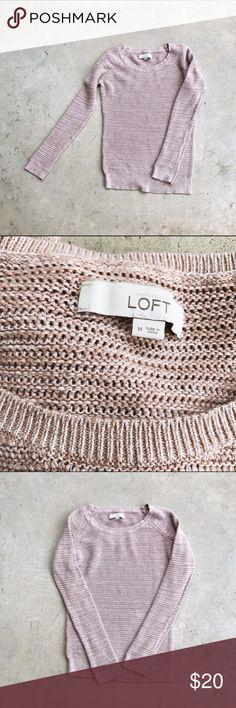 LOFT Cozy Pink Knit Sweater Flawless sweater from the loft. LOFT Sweaters Crew & Scoop Necks