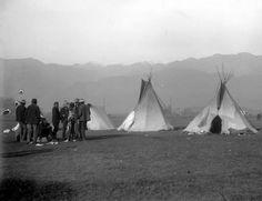 Ute Camp near Colorado Springs Colorado ~ 1906