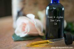 Rose & Jojoba Skin Care Oil | WholeGreenLove.com