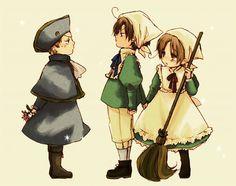 Sacro Imperio Romano, Romano e Italia, Hetalia