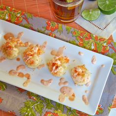 The Professional Palate - The Professional Palate Blog - {football friday} florida fusion - coconut shrimp & cheddar grit cakes