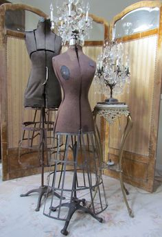 Old Dress Forms:  I recently found one just like the first one...its a keeper!!