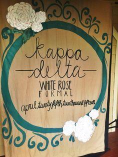 Eta Omega's 2015 White Rose Formal banner