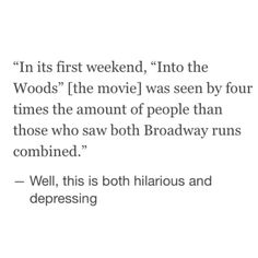 Into The Woods - Film vs Broadway Success