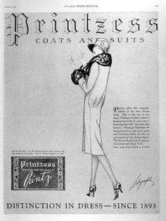 1926 Printzess Womens Coats Suits Vintage Ad