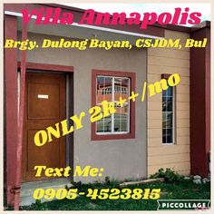 VILLA ANNAPOLIS Brgy. Dulong Bayan, San Jose del Monte City, Bulacan  PAG-IBIG FINANCING SCHEME House Model: Selena Mae - Rowhouse(Bare) Lot Area: 36 sqm . Floor Area: 20 sqm. Total Selling Price: Php. 550,000.00 HDMF 30yrs: 2,280.08/mo (MRI & Fire Insurance excluded)  VILLA ANNAPOLIS is a horizontal economic housing project in an 8hectare property in the City of San Jose del Monte, Bulacan. The subdivision will be the home to at least 1,000 families living together in an eco-friendly and…