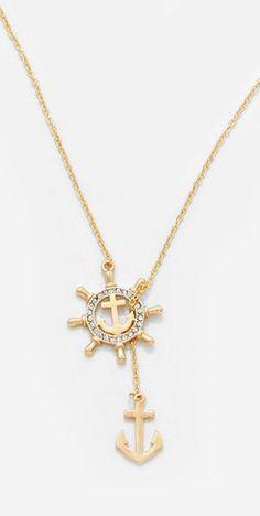 Nautical lariat necklace
