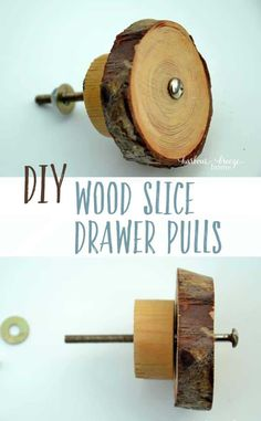 Add a touch of rustic style with this easy to follow tutorial on How to Make DIY Drawer Pulls from Wood Slice Branches. It's simple and stylish!