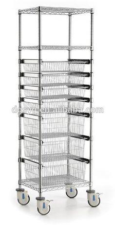 Commercial Metal Steel Rolling Storage Shelving Rack metal rack shelving