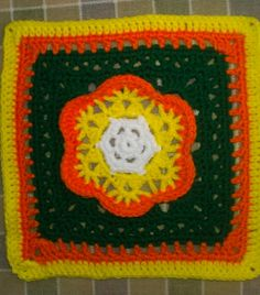 Ravelry: Project Gallery for Kaleidoscope Blossom Square pattern by Chris Simon