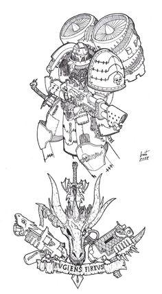 assault_marine bolter flamer greyall jump_pack lineart space_marines