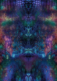Violet snake skin pattern Art Print by martaolgaklara Snake Skin Pattern, Surface Pattern, Pattern Art, Patterns In Nature, Textures Patterns, Print Patterns, Snake Art, Snake Drawing, Textile Prints