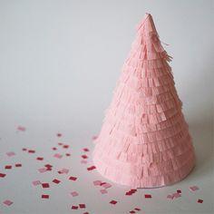 Pink Fringe Party Hat