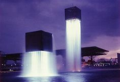 Japan, Nine Floating Fountains by Isama Noguchi