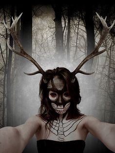 Wendigo Makeup by samoyed16.deviantart.com on @DeviantArt
