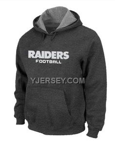 http://www.yjersey.com/nike-raiders-dgrey-hoodies-new-arrival.html #NIKE RAIDERS D.GREY HOODIES NEW ARRIVALOnly$50.00  Free Shipping!