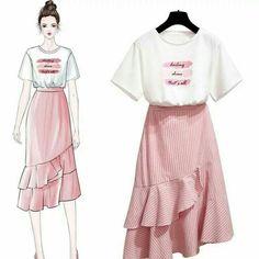 Classy Outfit Ideas Moda To Beat The Summer Heat Cute Fashion, Look Fashion, Girl Fashion, Fashion Photo, Street Fashion, Fashion Design Drawings, Fashion Sketches, Fashion Drawing Dresses, Fashion Dresses