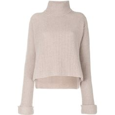 Forte Forte chunky roll neck jumper (39.760 RUB) ❤ liked on Polyvore featuring tops, sweaters, nude, roll neck sweater, pink jumper, pure cashmere sweaters, jumpers sweaters and pink sweater