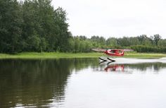 Georg landing in 69 Delta at the mouth of the creek.