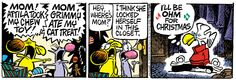 A daily comic strip by Mike Peters, Mother Goose And Grimm.