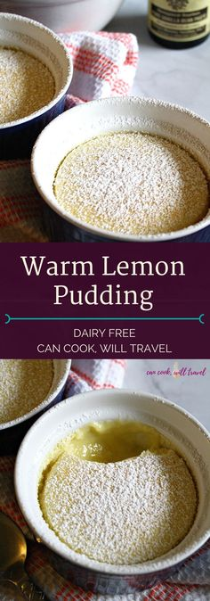 Check out this delicious Warm Lemon Pudding that will impress everyone (especially the lemon lovers in your life)! Seriously it's SO yummy & is dairy free!