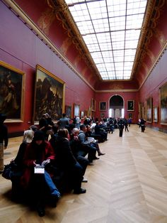 The Louvre (Paris, France) the moment I realized the small picture in my book was the size of the wall, wow