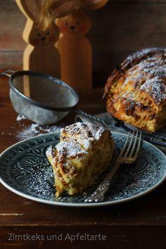 Hefezopf mit Pistazien, Mandeln und Aprikosen - super saftig und fruchtig - Zimtkeks und Apfeltarte
