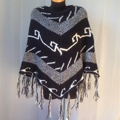 ECOTÉ by Urban Outfitters Black and white, Tribal print Urban Outfitters Sweaters Shrugs & Ponchos