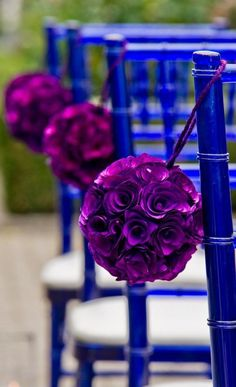 ceremony décor - simple and pretty purple