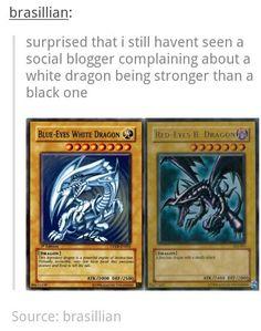 Blue eyes white dragon, red eyes black dragon Yugioh cards