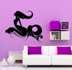Mermaid Wall Vinyl Decal Beauty Sea Animal Water Nymph Sticker Interior Home Art Decor (14merm)