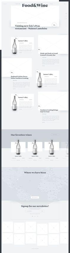 blog – wireframe   #ui #ux #userexperience #website #webdesign #design #minimal #minimalism #art #white #orange #blue #travel #map #ecommerce #fashion