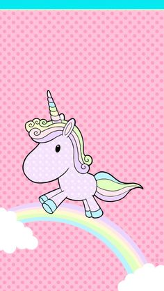 FREE Iphone Android Wallpaper Wallies Phone Pastel Unicorn Rainbow Cute Graphic