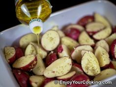 My favorite Oven-Roasted Herbed Redskin Potatoes Recipe