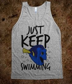 Just Keep Swimming (tank) - Movies & TV - Skreened T-shirts, Organic Shirts, Hoodies, Kids Tees, Baby One-Pieces and Tote Bags
