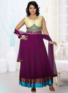 #Purple Colored #Anarkali Suit  Check out this page now :-http://www.ethnicwholesaler.com/salwar-kameez.html