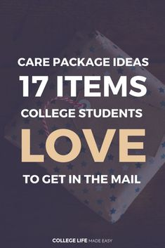 Care Package Ideas: 17 Items College Students Love to Get College Student Care Package Ideas for Guys for Friends For Girls Dorm Room Survival Kits Fun Mail College Care Package Ideas List Articles Posts Creative DIY Care Package via
