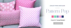 New collection Pattern Pop designed by Sarajo Frieden--just launched at the Guildery | Shop Designer Looks for Home Furnishings and Decorations, Throw Pillows, Ottomans, Benches, Drapery, Lighting, Accessories