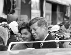 Jackie and John F Kennedy from the campaign trail 1960
