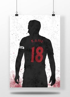 Harry Kane Tottenham Hotspur Football Soccer Poster Copa Football, Football Love, Football Art, Football Posters, Soccer Poster, Sale Poster, Poster On, Football Tattoo, England Players